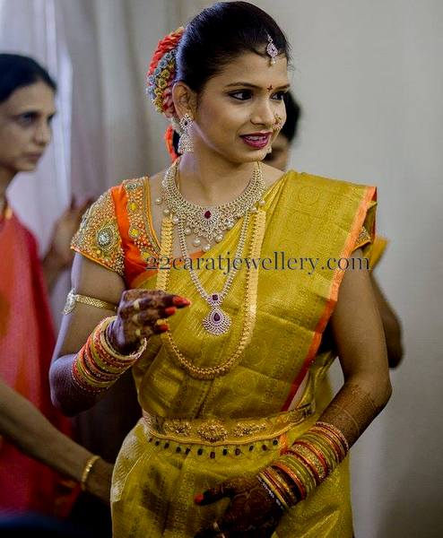 Gorgeous Bride in Traditional and Diamond Sets