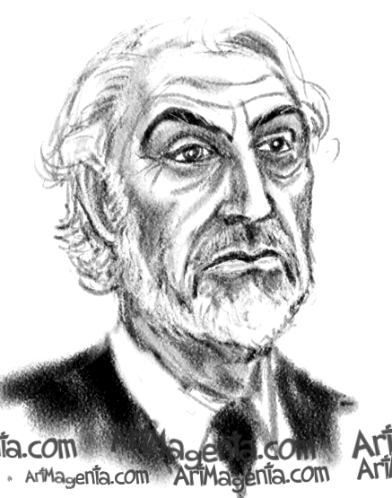 Sean Connery is a caricature by cartoonist Artmagenta