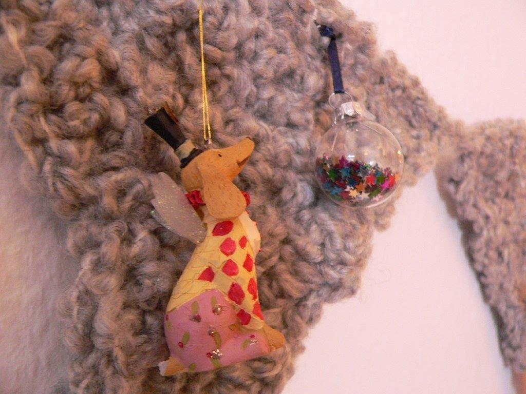 Girlande Weihnachten Kugeln Weihnachtskugeln DIY Häkeln Sterne Hund Anhänger Handarbeiten Deko