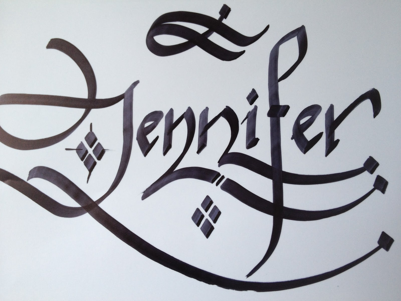 Calligraphy Art Girl Names In Calligraphy 5 Jennifer