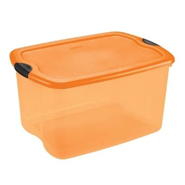 I actually have three orange bins for all my items. Like I said...I love Halloween!  sc 1 th 225 & Stock