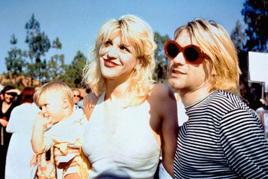 Kurt Cobain Courtney Love Frances Bean Cobain daughter MTV Awards