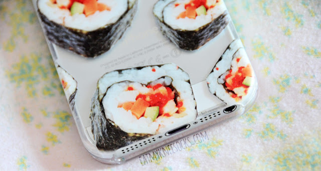 If you love Japanese food, you'll love the adorable sushi-print phone case from Clash Cases, featuring a detailed sushi pattern.