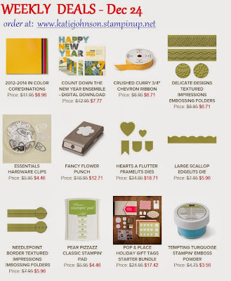 Stampin'UP!'s Weekly deals for Dec 24 2013