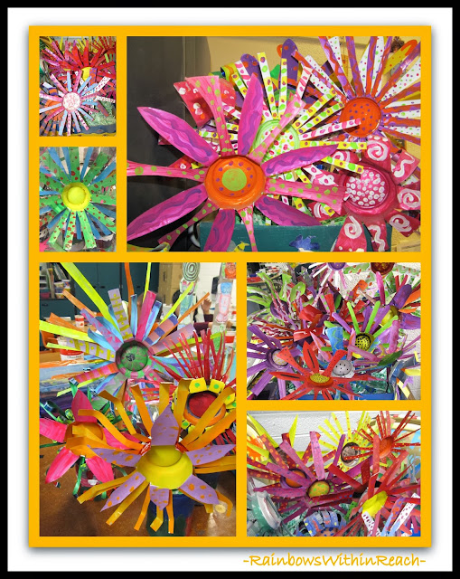 Painted UPcycled Aluminum Cans as Spring Flowers via RainbowsWithinReach