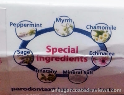 special ingredients of Parodontax Daily Fluoride Toothpaste
