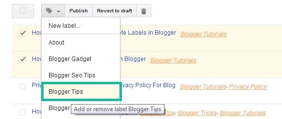 Change Label in Blogger
