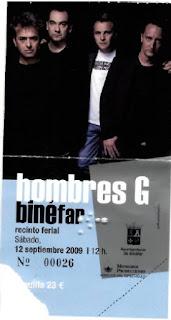 entrada concierto binefar Hombres G