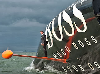 Alex Thompson keel walking Hugo Boss style