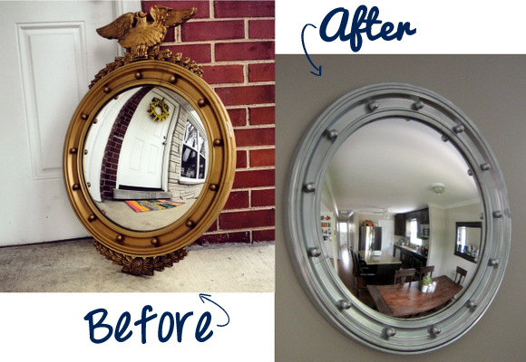 Before and After Nautical Porthole Mirror