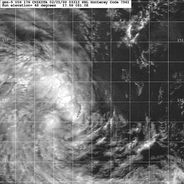 Image satellite de la tempête Chikita