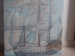 Cer mica artist ca mural de barco - Murales de ceramica artistica ...
