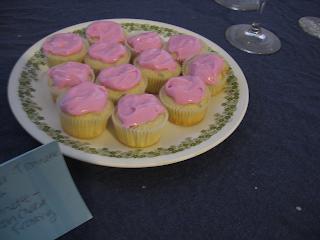 White wine lavender cupcakes