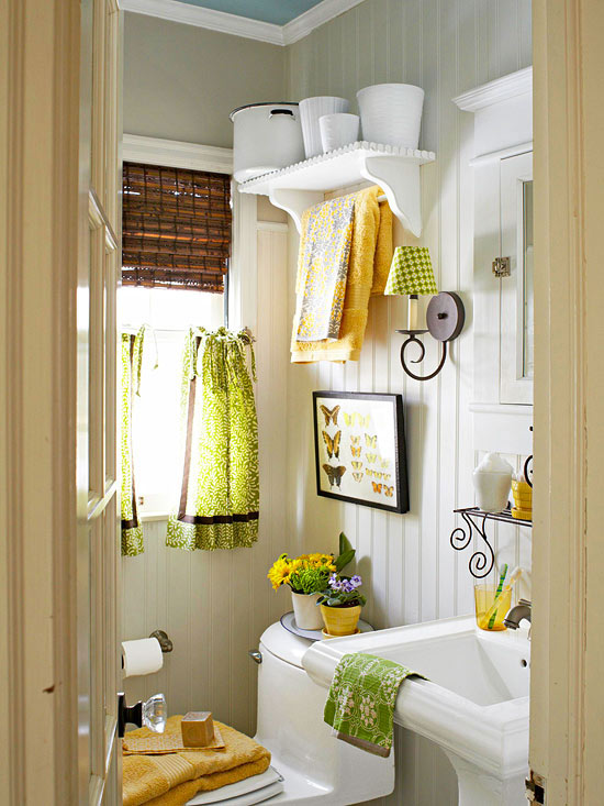 Ideas Para Decorar Un Baño Pequeno:Small Yellow Bathroom Color Ideas