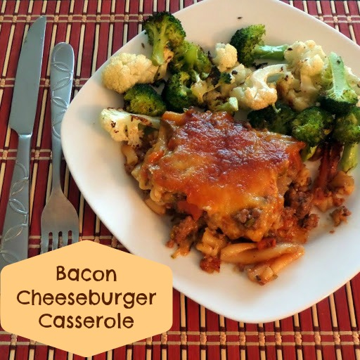 pasta casserole made with my favorite burger toppings of bacon ...