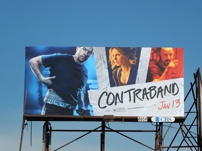 Mark Wahlberg Contraband billboard