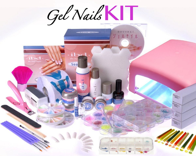 complete gel nail kit ordered from amazon japan ibd soak off gel kit