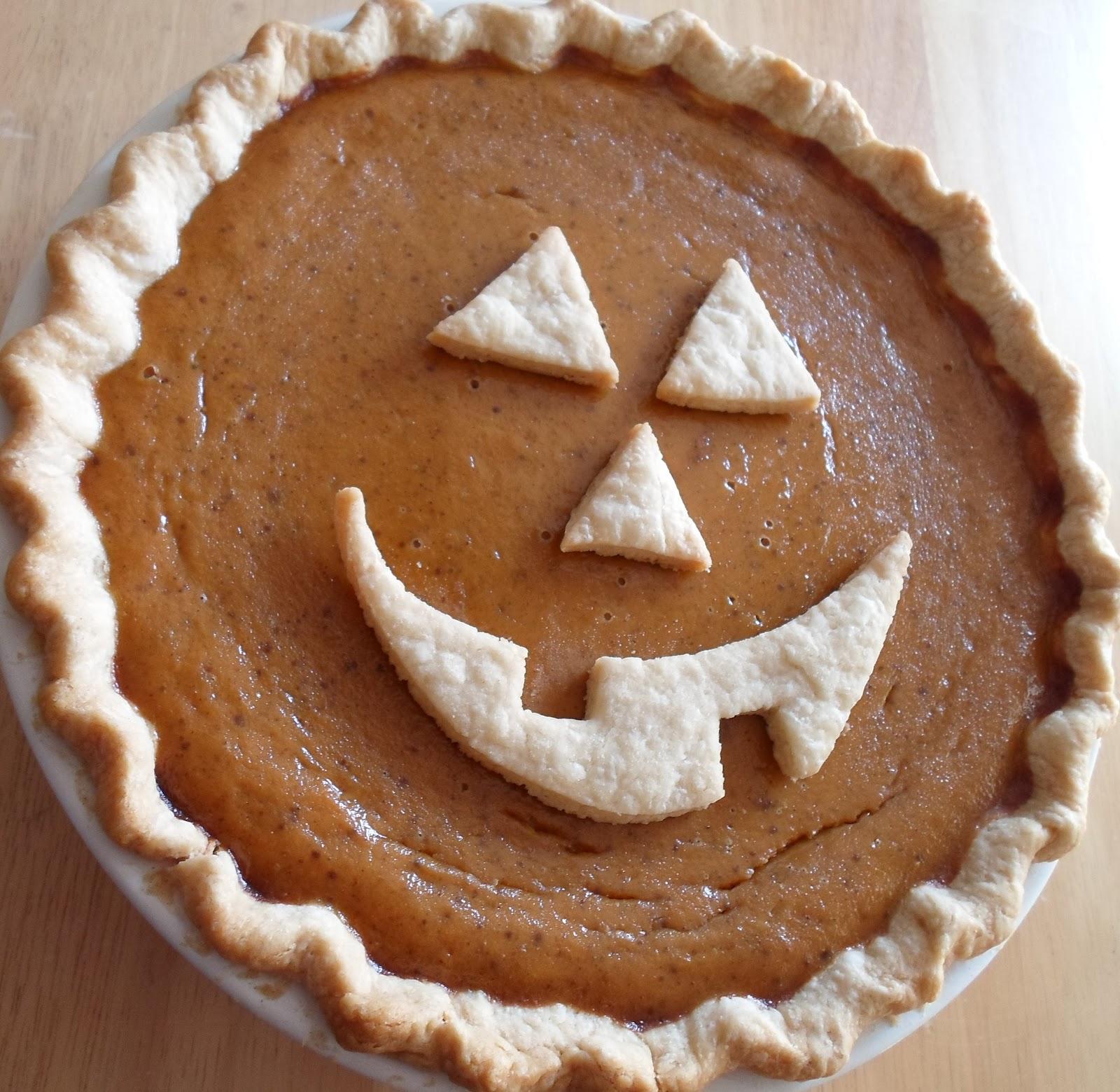 Happier Than A Pig In Mud: Jack-O-Lantern Pumpkin Pie