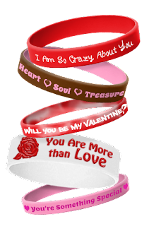 Valentines Day wristbands