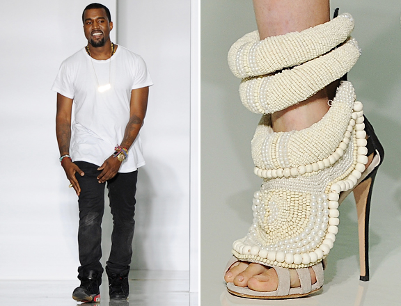 87c90f2ef834 ... is by now fashion designer Kanye West ..his first pairs of women s high- heels..The rap genius partnered with the Italian designer Giuseppe Zanotti