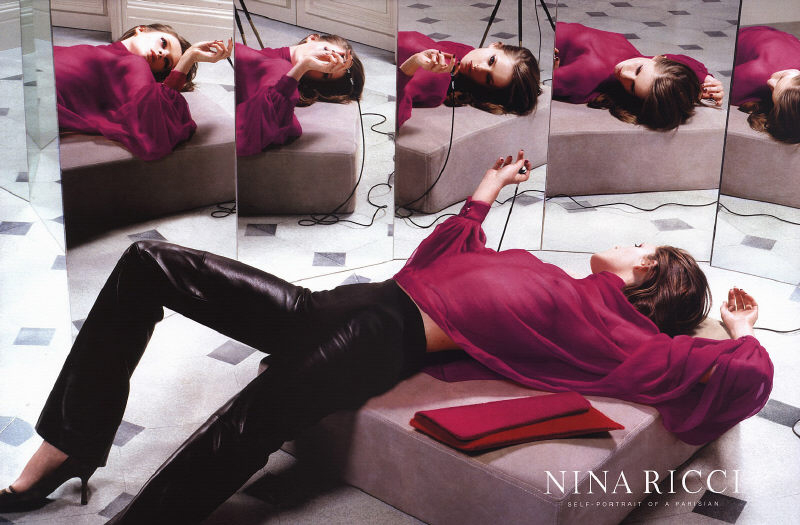 Nina Ricci Fall 2000 ad campaign / Lisa Ratcliffe photographed by Mert Alas & Marcus Piggott / editorials and campaigns with similar themes / via fashioned by love british fashion blog