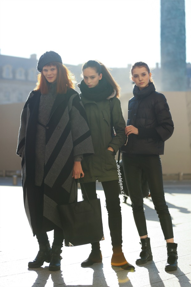 Irina Kravchenko, Chiara Corridori and Diana Moskalets, Paris, January 2016