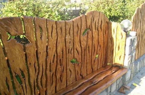 Деревянные заборы из доски