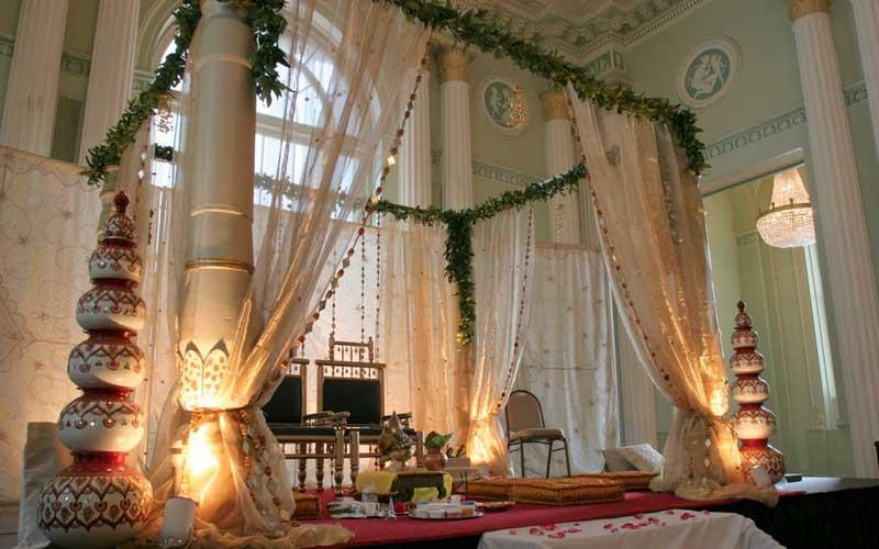 indian wedding stage decoration - photo #34