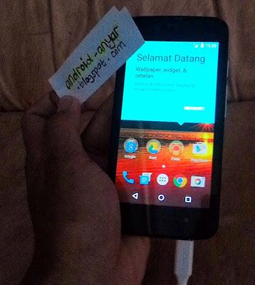 Pesan Selamat Datang Nexian Journey 1 AndroidOne