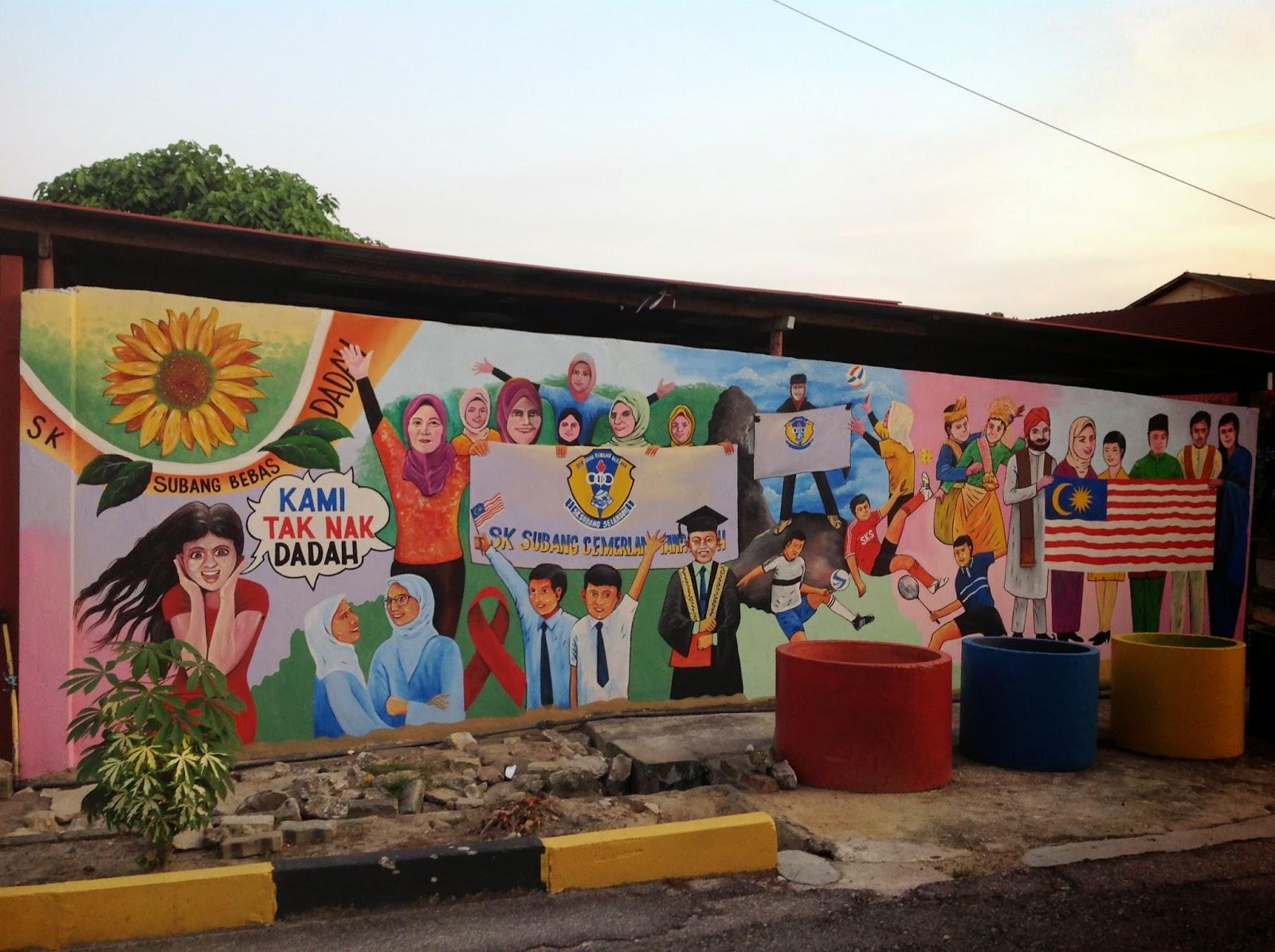 Pelukis mural shah alam majulah sukan untuk sekolah for Mural sekolah rendah