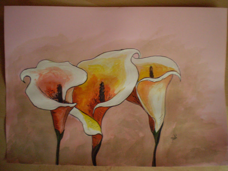 Calla Lilly, watercolour, signed Joli, size A4