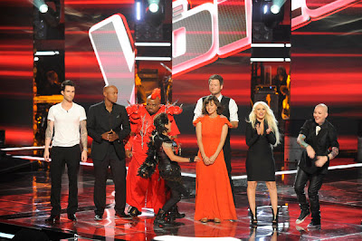 The finalist and coaches of The Voice are joined by Road Warrior Cee-Lo