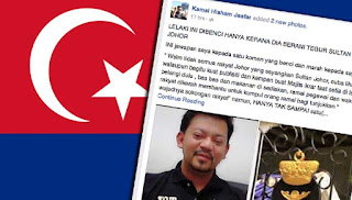 Saya dihina kerana tegur Sultan Johor – Peguam