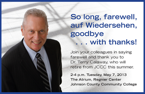 Join us May 7 to say good-bye to Terry Calaway