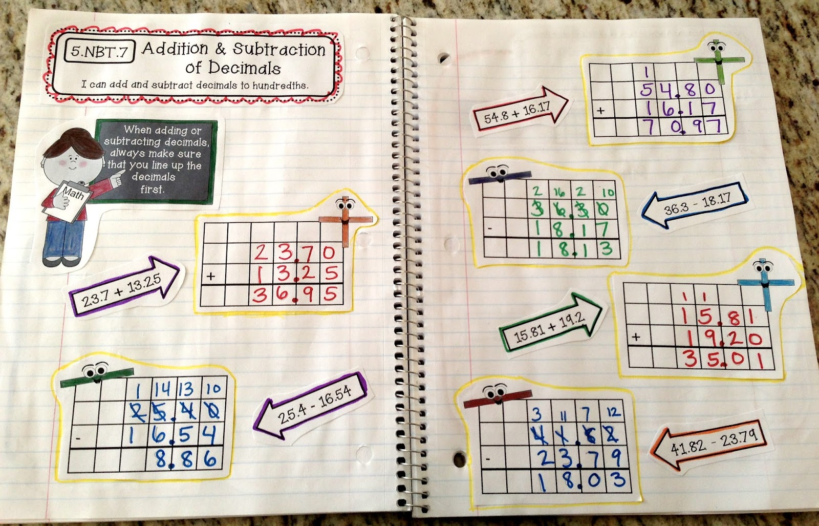 FINALLY: 5th Grade Interactive Math Notebooks!!! - Create○Teach○Share