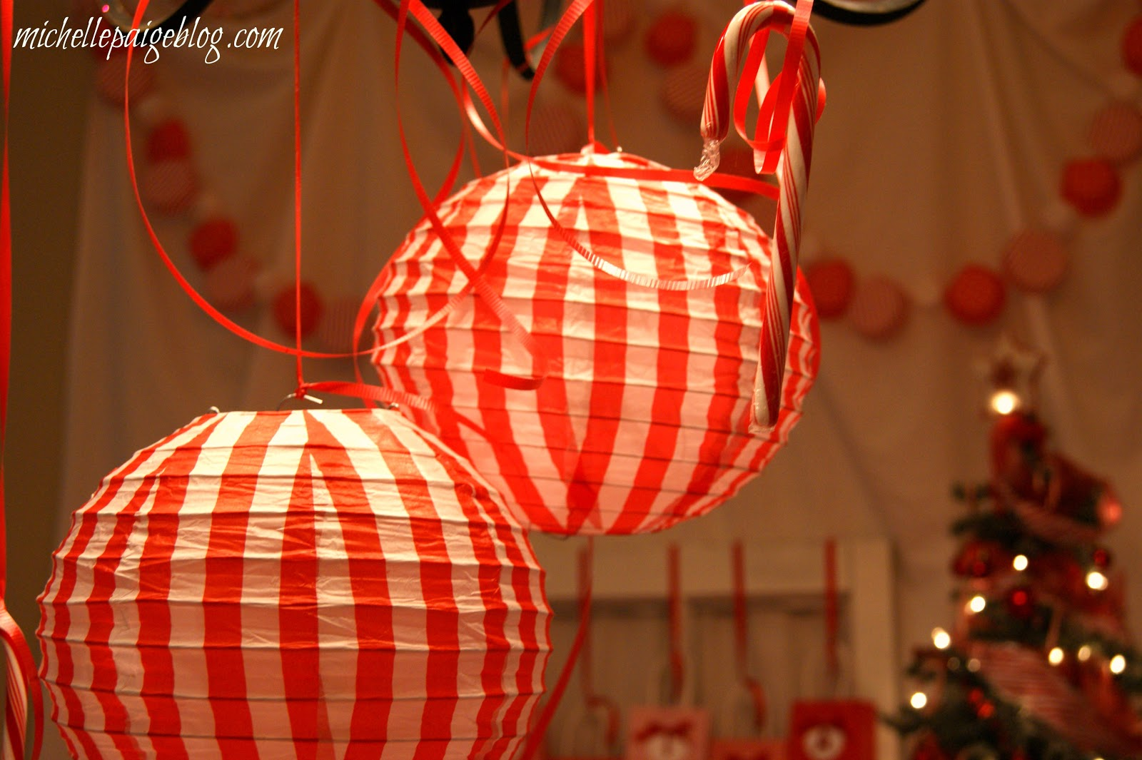 Michelle Paige Blogs Red And White Candy Cane Party