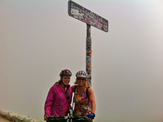 Cycling to the summit of Mont Ventoux