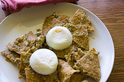 Chilaquiles with poached eggs