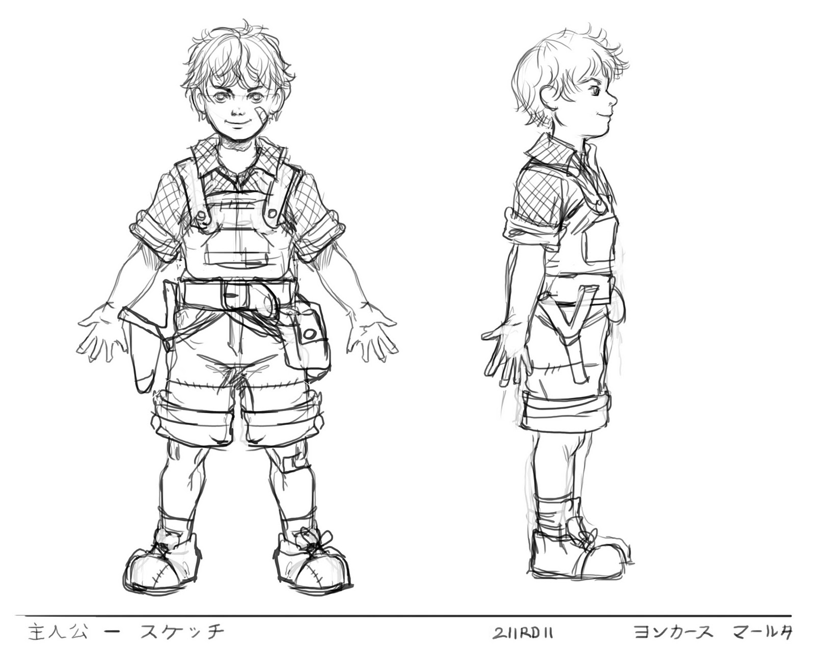 Game Design Character Classes : Marthe sketches game character design class