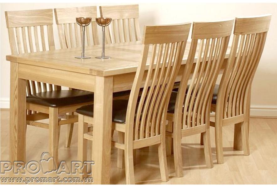 Bàn ghế phòng ăn gỗ tự nhiên
