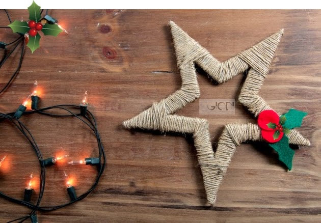 estrella de navidaduna idea fcil y brillante para decorar tu hogar para estas fiestas para decorar paquetitos de regalos o tu mesa