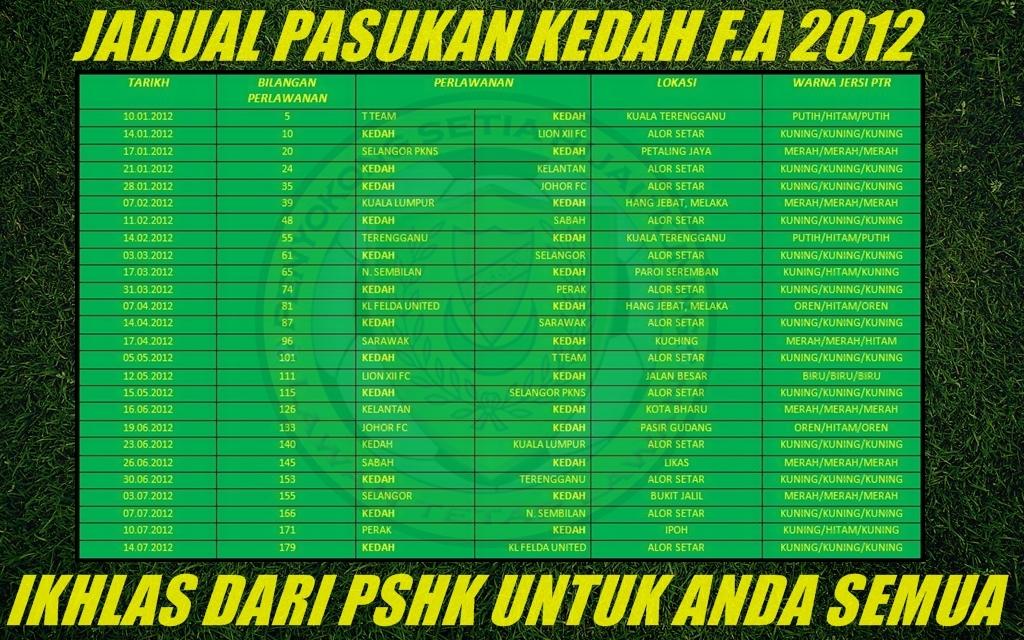 Penyokong setia hijau kuning jadual pasukan kedah fa 2012 for Home wallpaper kedah