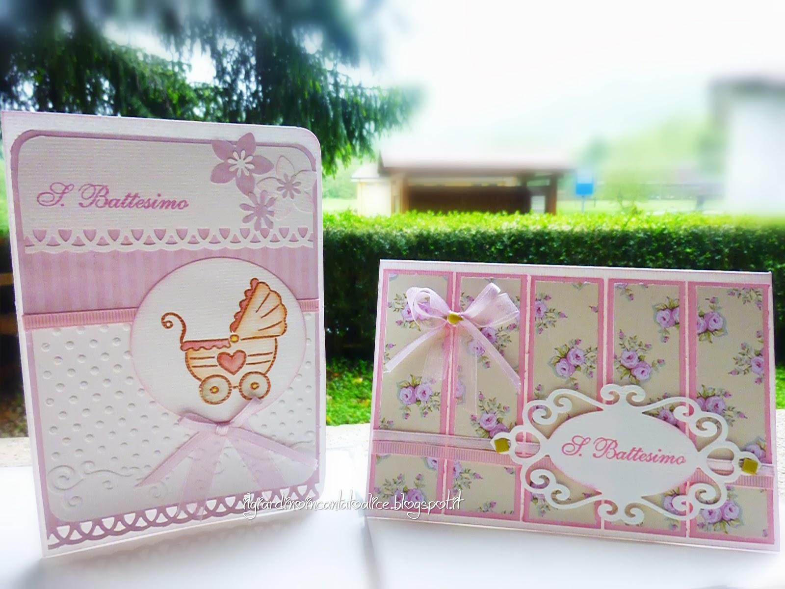 Due card per lo stesso Battesimo, quello di una dolce bambina, Elisa ...