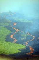 Volcanic Lava Flows on Isabela Island, Galapagos