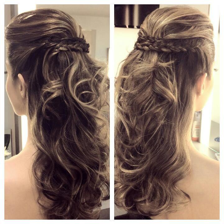 penteados semi presos para madrinhas de casamento com cachos