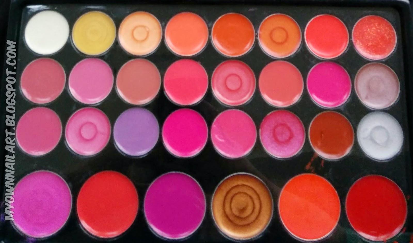 Born Pretty 30 Color Lip Gloss Gel Lip stick Makeup Cosmetic Mirror