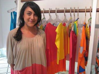 Mira Hayek at the starch boutique in beirut