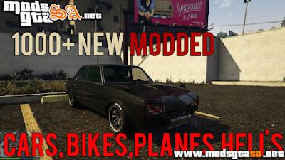 V - Mod 1000 Veículos Modded para GTA V PC