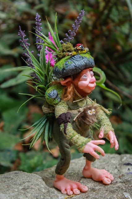 fantasy creature ooak doll handmade pixie