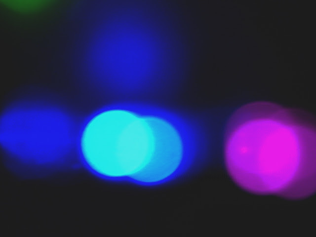 bokeh multi color lights